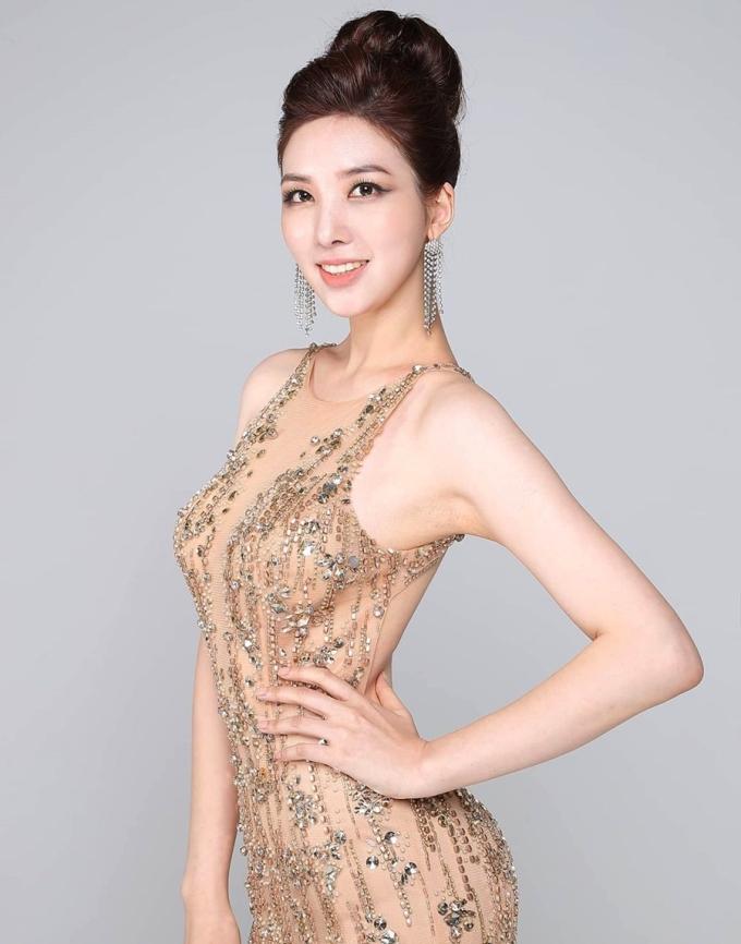 Nhan sắc của Park Ha Ri không được đánh giá cao. Ảnh: Miss Universe Korea.