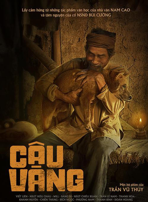 Nghệ sĩ Viết Liên - vai lão Hạc trên poster phim. Ảnh: Galaxy.