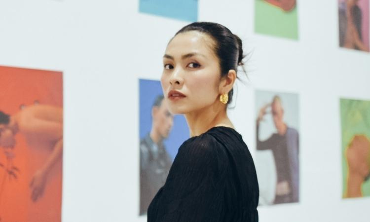 Tăng Thanh Hà xem triển lãm thời trang