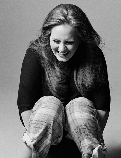 Adele trong bộ ảnh quảng bá album 21 năm 2011. Ảnh: XL Records.