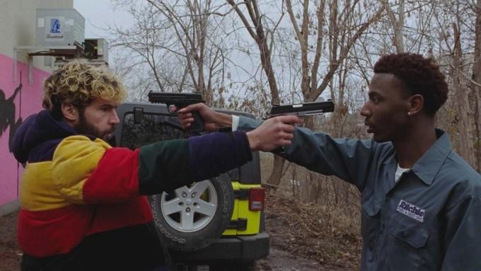 Jerrod Carmichael (phải) đóng cặp Christopher Abbott, trong phim do anh đạo diễn. Ảnh: Hollywood Reporter.