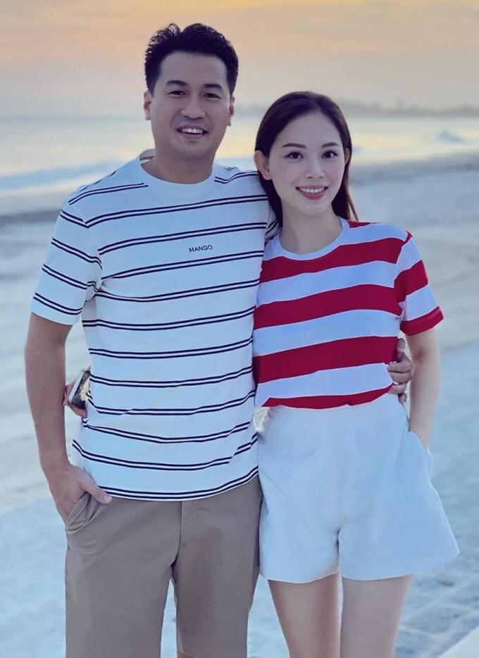 Linh Rin và Phillip Nguyễn trong chuyến du lịch dịp cuối năm. Ảnh: Linh Rin.
