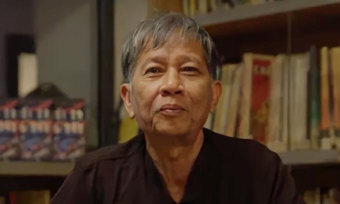 Nhà văn Nguyễn Huy Thiệp năm 2018. Ảnh: Nhã Nam.