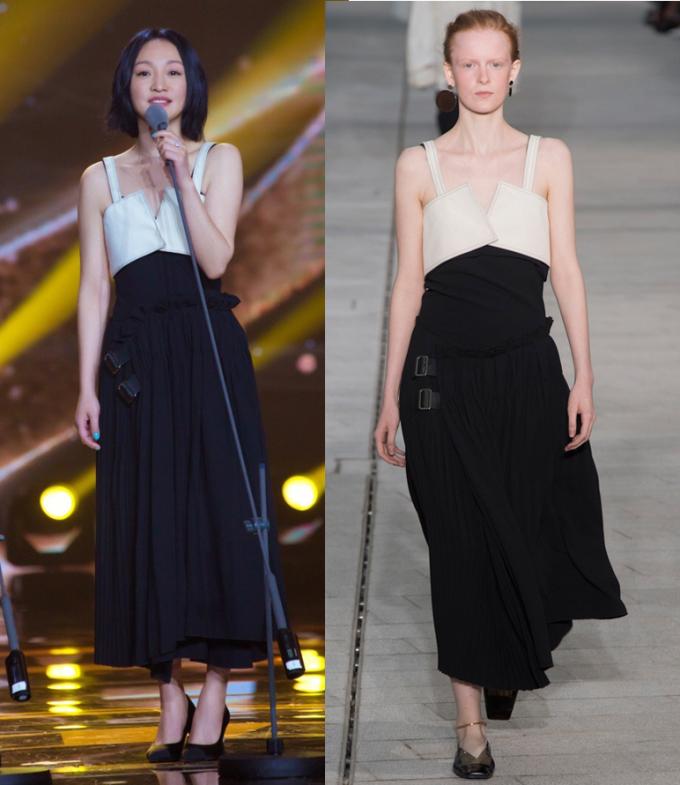 Cô được nhiều tạp chí thời trang khen tươi trẻ với thiết kế hai dây của Jil Sander. Ảnh: Jil Sander.