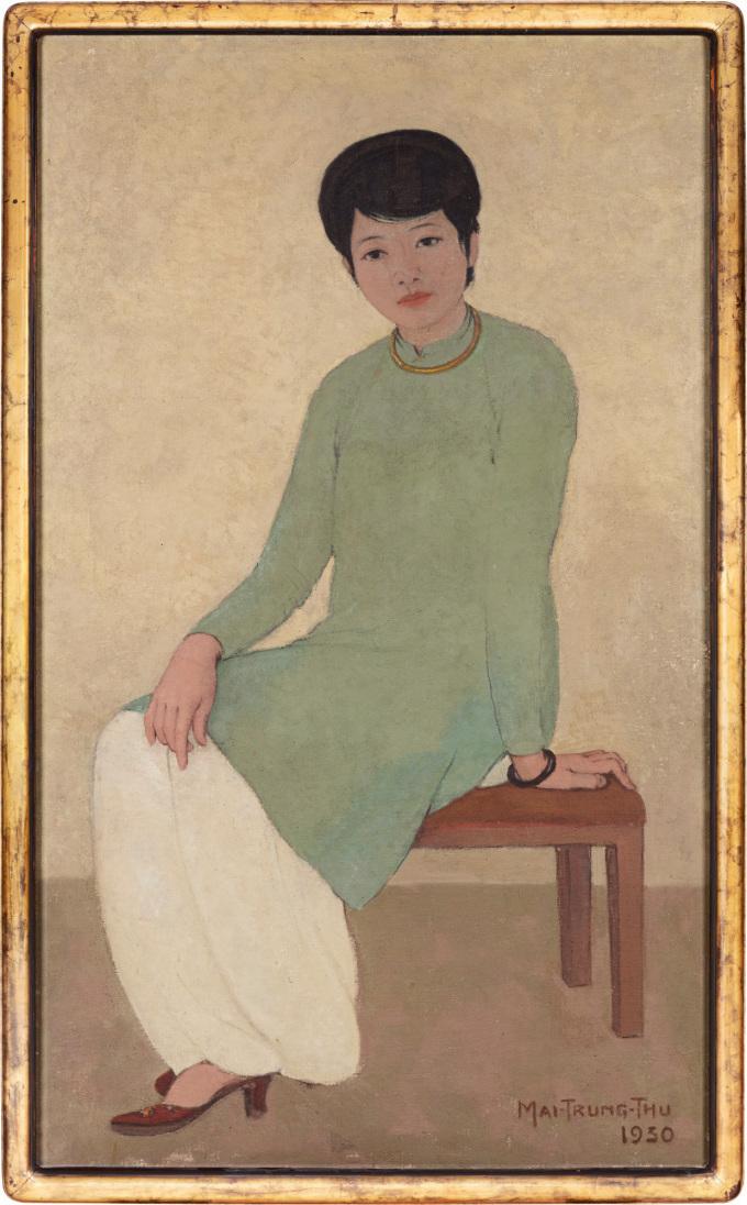 Bức họa Chân dung Madam Phương của Mai Trung Thứ. Ảnh: