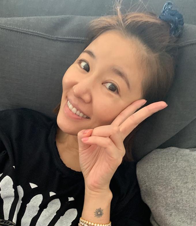 Tâm Như qua góc chụp của con gái. Cô bé sinh năm 2017, đang học mẫu giáo.