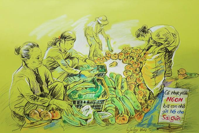 Sài Gòn thời giãn cách qua tranh - 9
