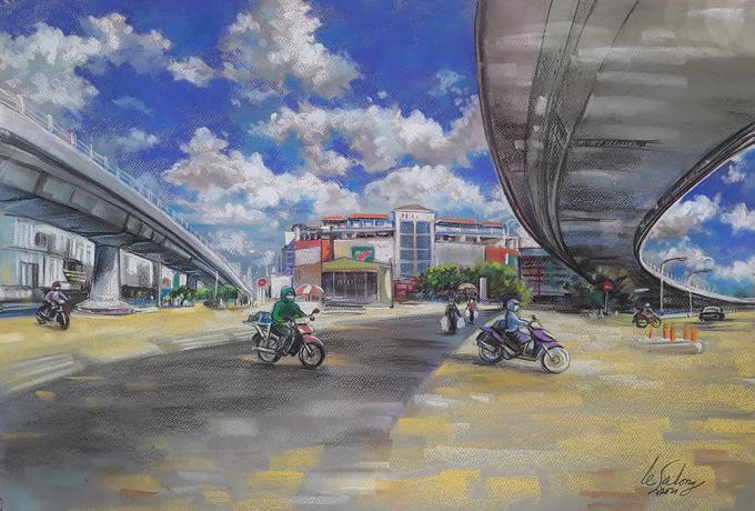Sài Gòn thời giãn cách qua tranh - 3