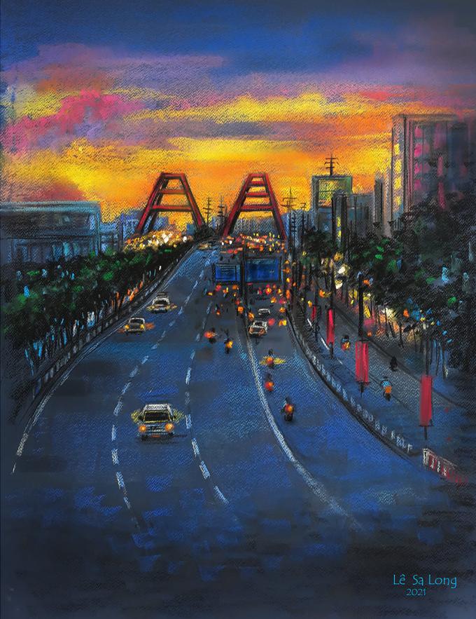 Sài Gòn thời giãn cách qua tranh - 4