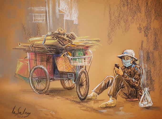 Sài Gòn thời giãn cách qua tranh - 6