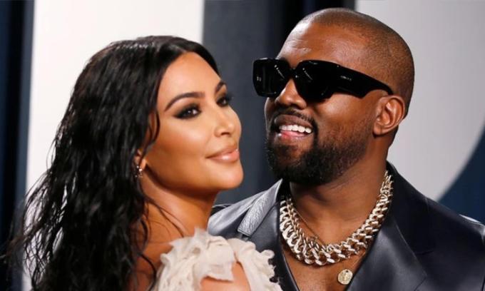 Kim Kardashian (trái) và Kanye West. Ảnh: AFP.