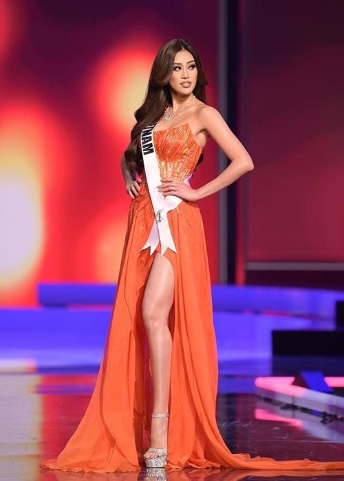 Khánh Vân tại Miss Universe ở Mỹ hồi tháng 5. Ảnh: Miss Universe