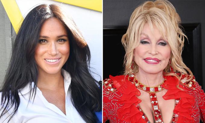 Meghan Markle (trái) và Dolly Parton góp mặt trong hạng mục Biểu tượng của Time. Ảnh: People
