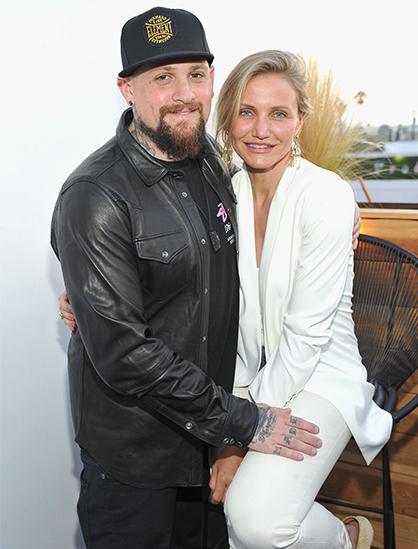 Cameron Diaz và chồng - nhạc công Benji Madden. Ảnh: Elle