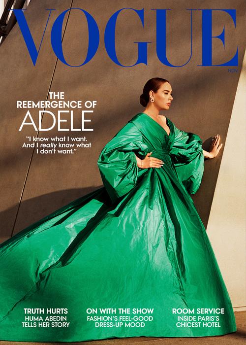 Adele trên bìa tạp chí. Ảnh: Vogue US
