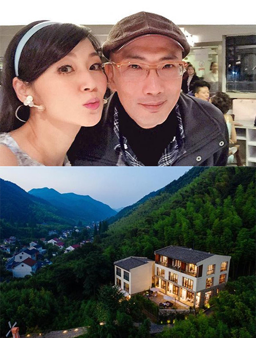 Vợ chồng Ỷ Văn lên núi sinh sống. Để tránh quá nhàn rỗi, họ kinh doanh homestay. Diễn viên cho biết công việc thú vị, cho cô gặp những người khách thú vị. Ảnh: Mingpao